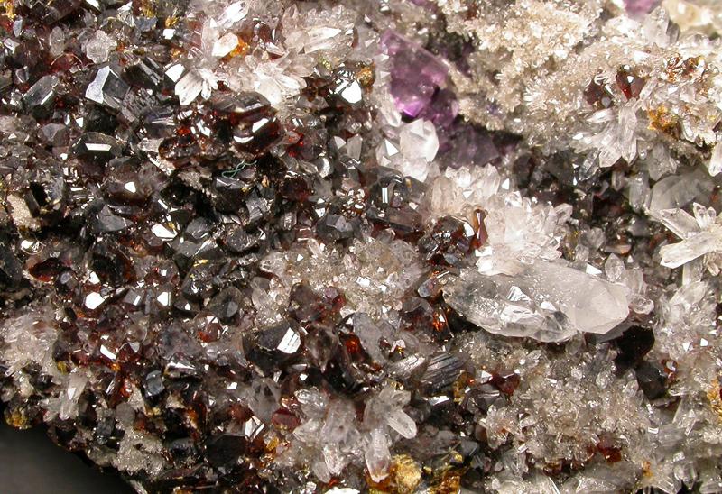 Sphalerite Quartz & Fluorite