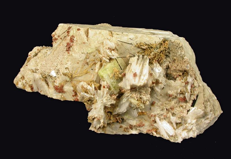Leucophanite & Rhodochrosite & Rhabdophane