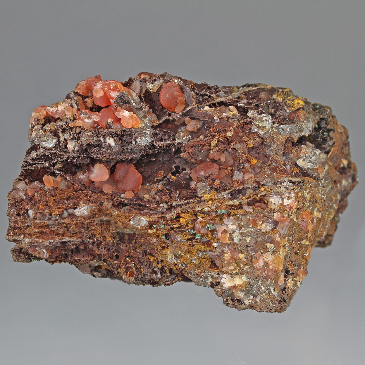 Rhodochrosite & Copper