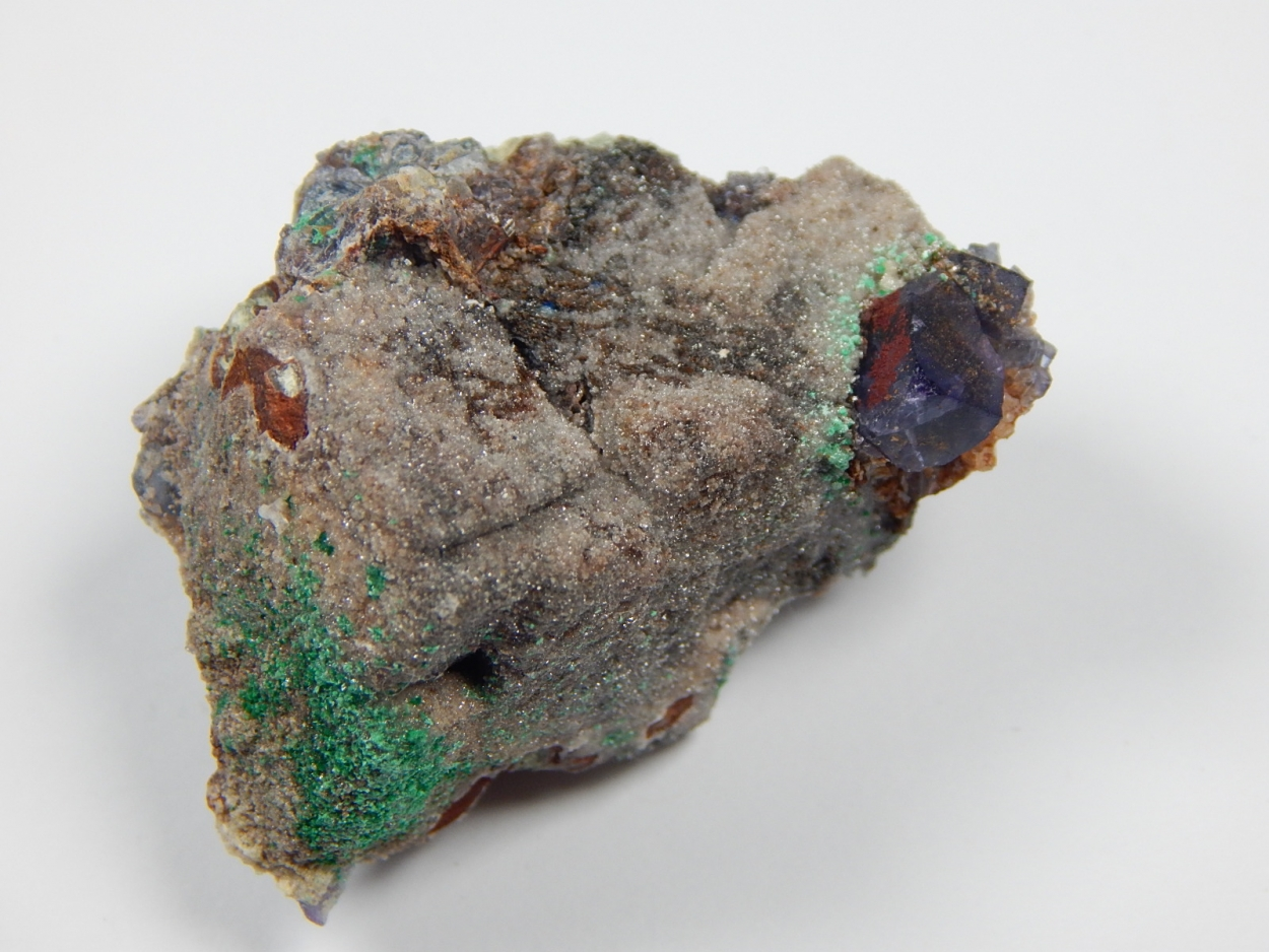 Anglesite Psm Galena With Fluorite