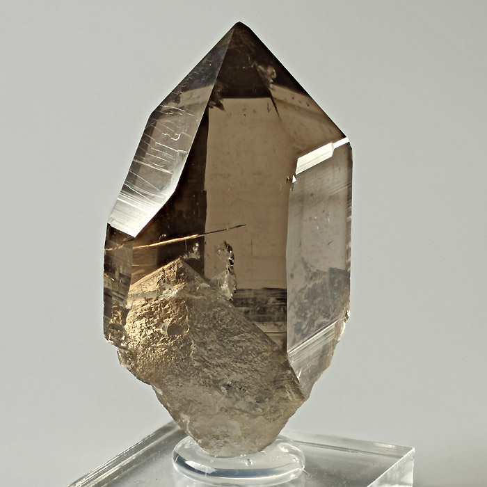 Smoky Quartz With Anhydrite