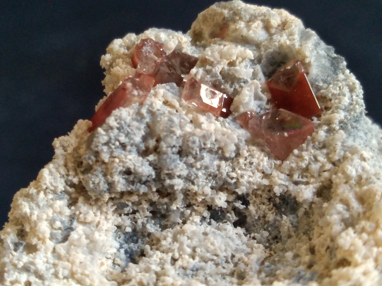Topaz With Rutile On Chalcedony