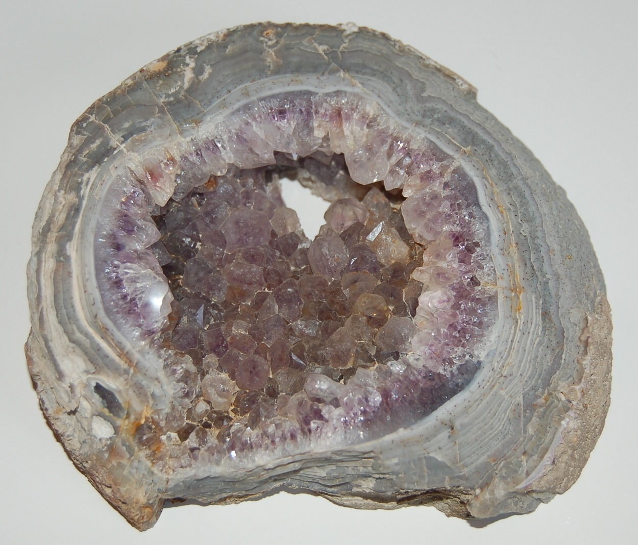 Agate With Amethyst