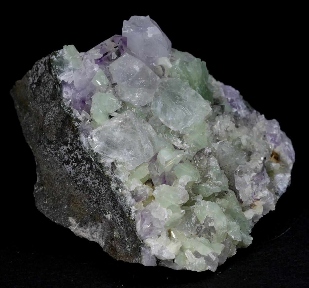 Prehnite Amethyst Quartz & Calcite