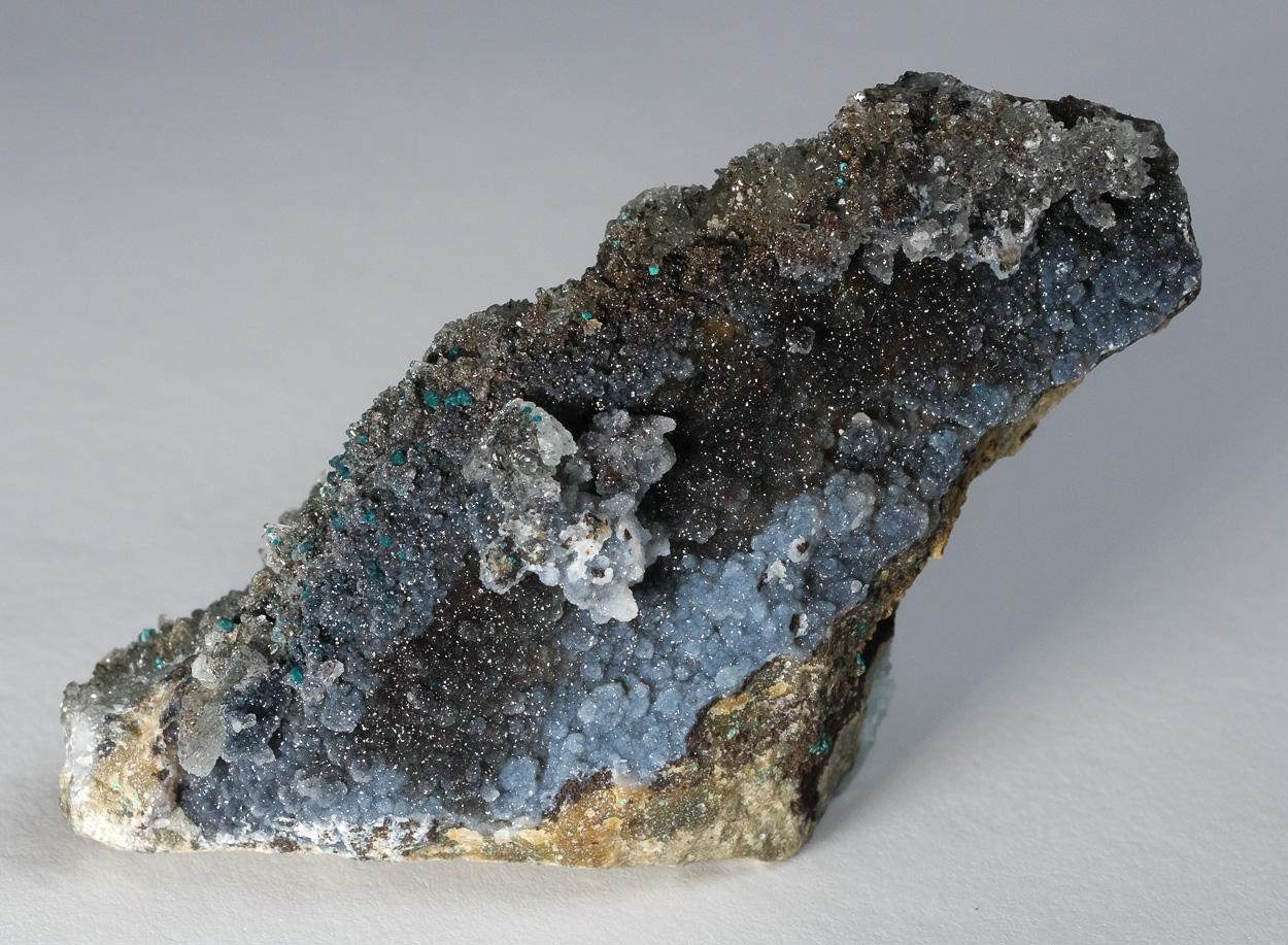 Hemimorphite Chalcedony & Zincolibethenite