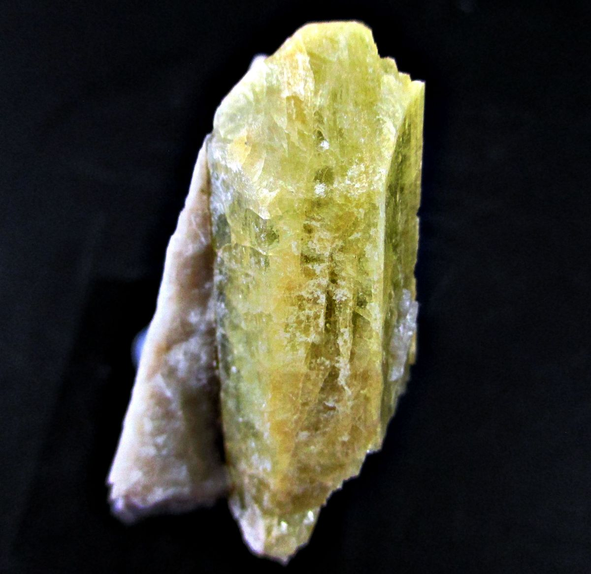 Beryl Var Heliodor On Microcline