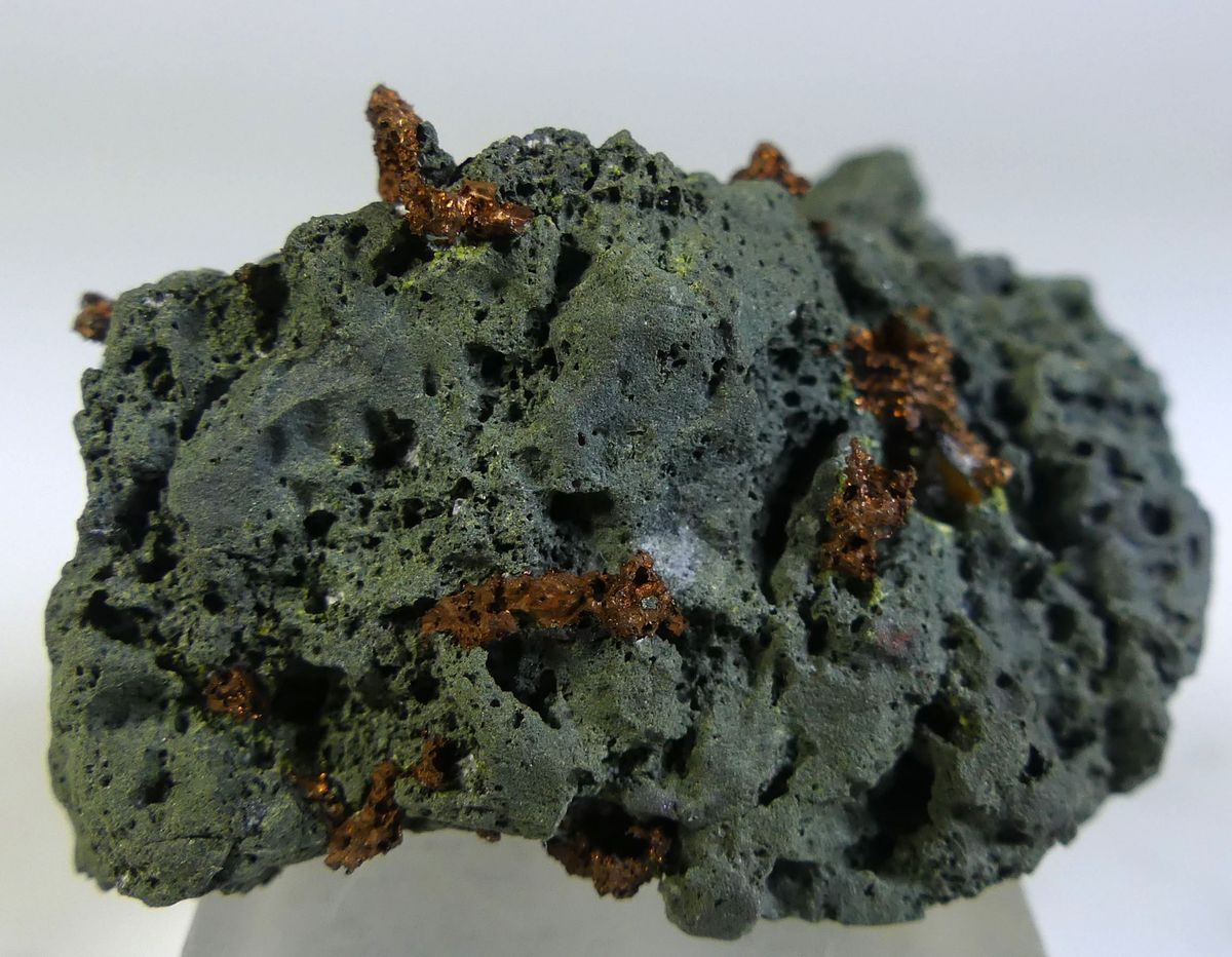 Native Copper On Basalt