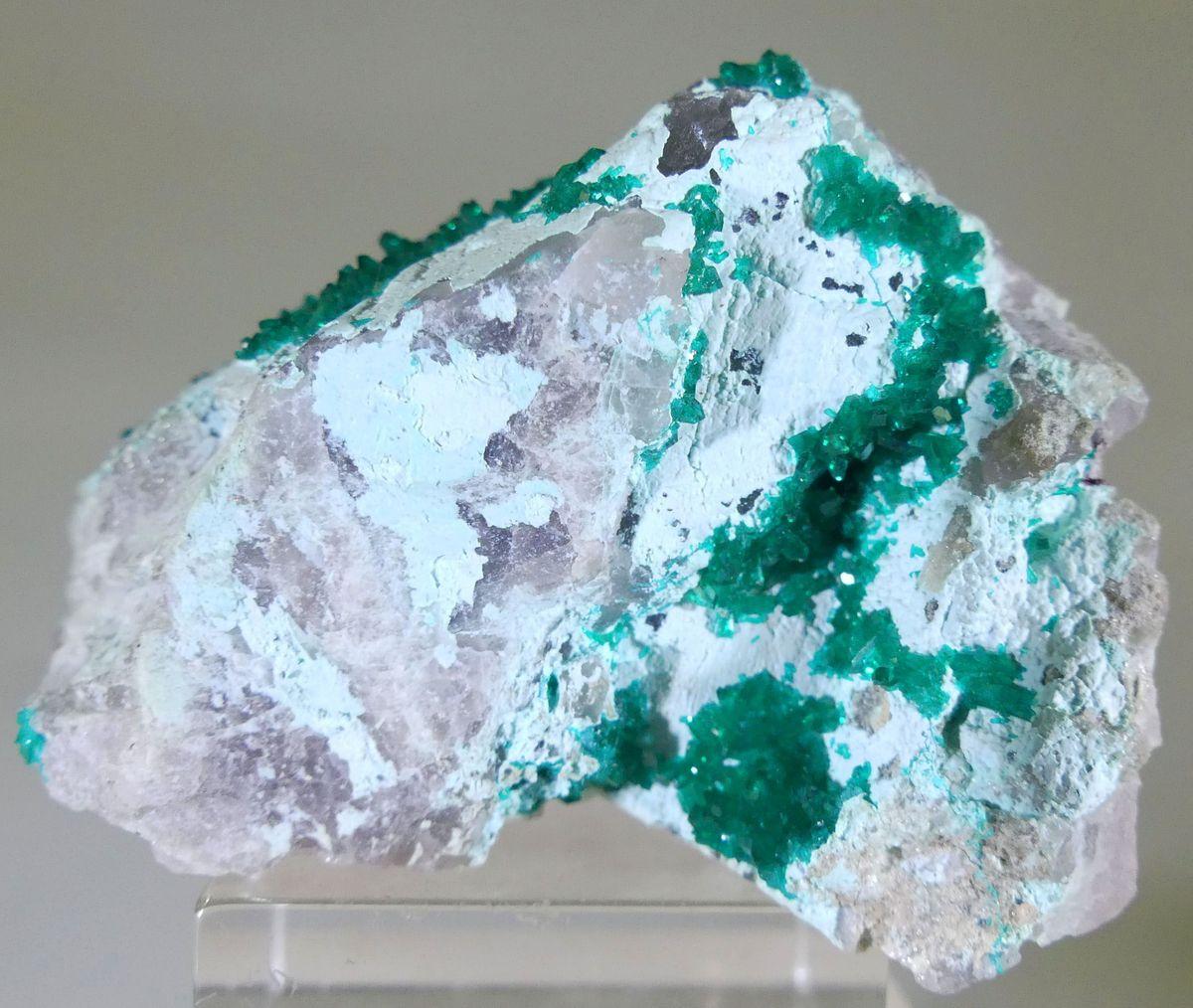 Dioptase On Plancheite