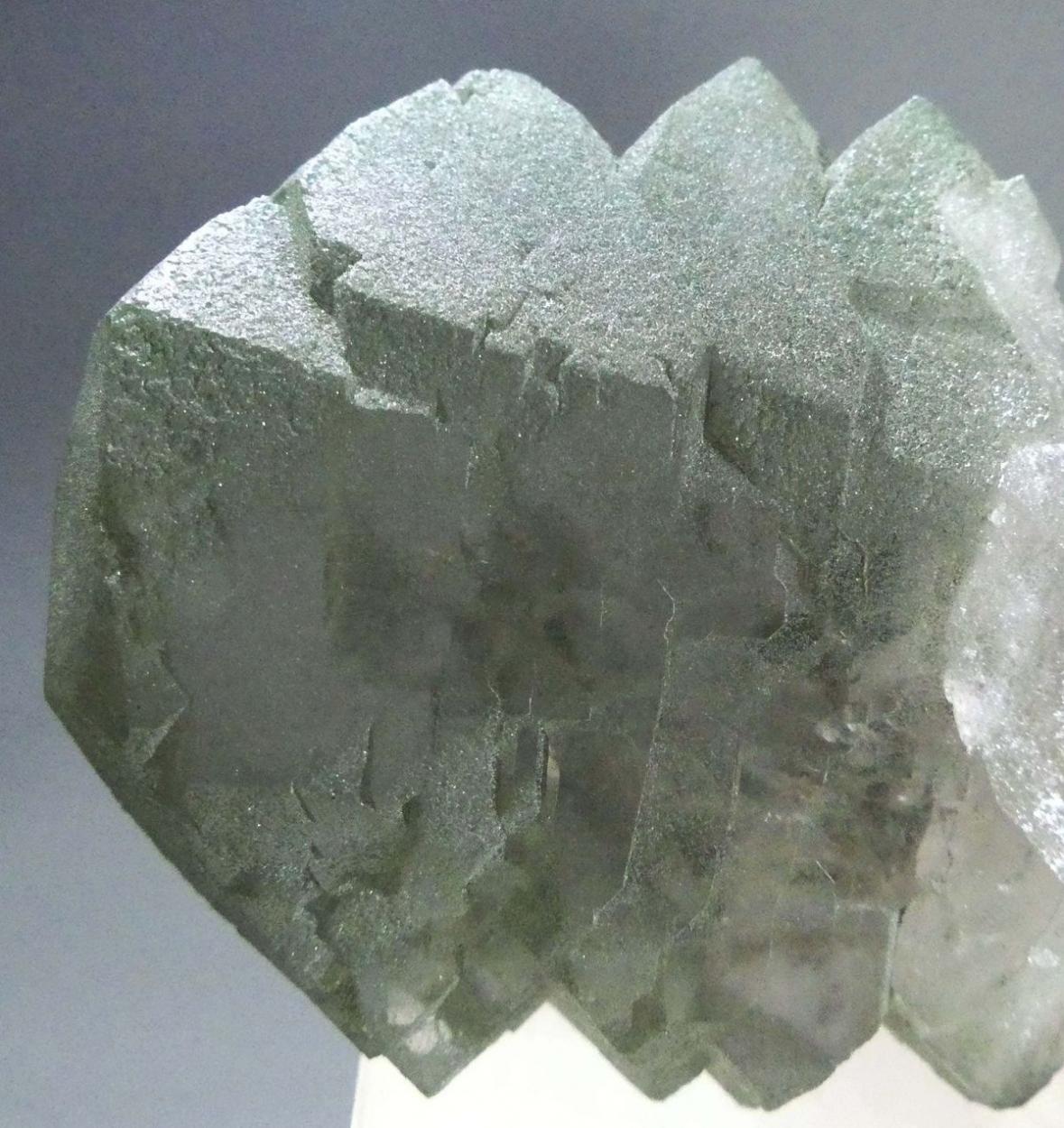 Rock Crystal Var Gwindel With Chlorite