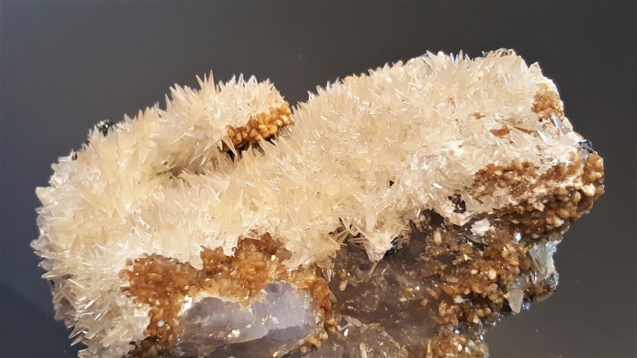 Calcite Stilbite & Hematite