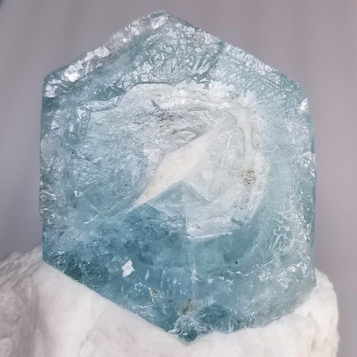 Aquamarine With Feldspar
