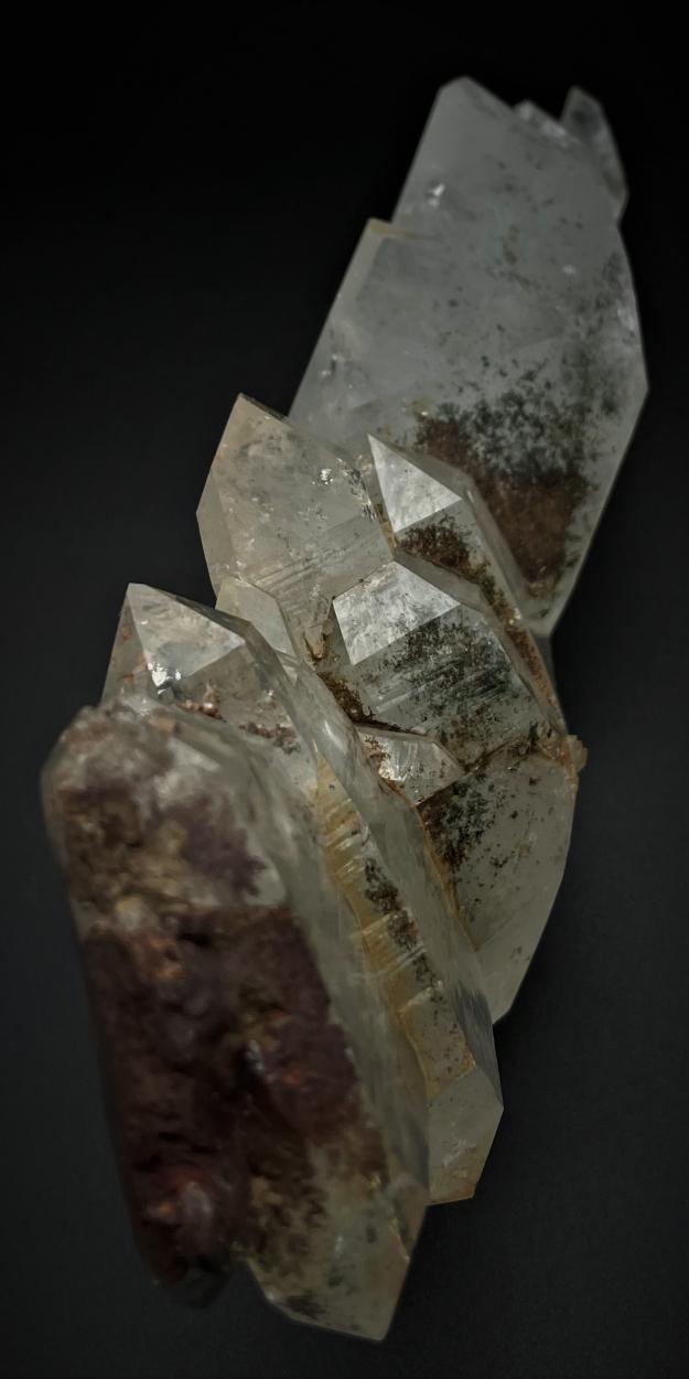 Faden Quartz With Hematite & Chlorite