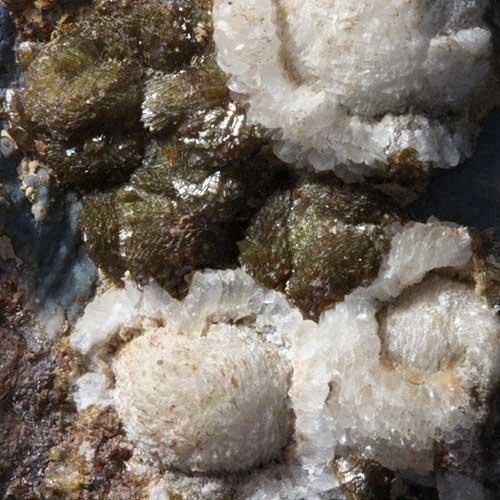 Calcite & Chrysolite