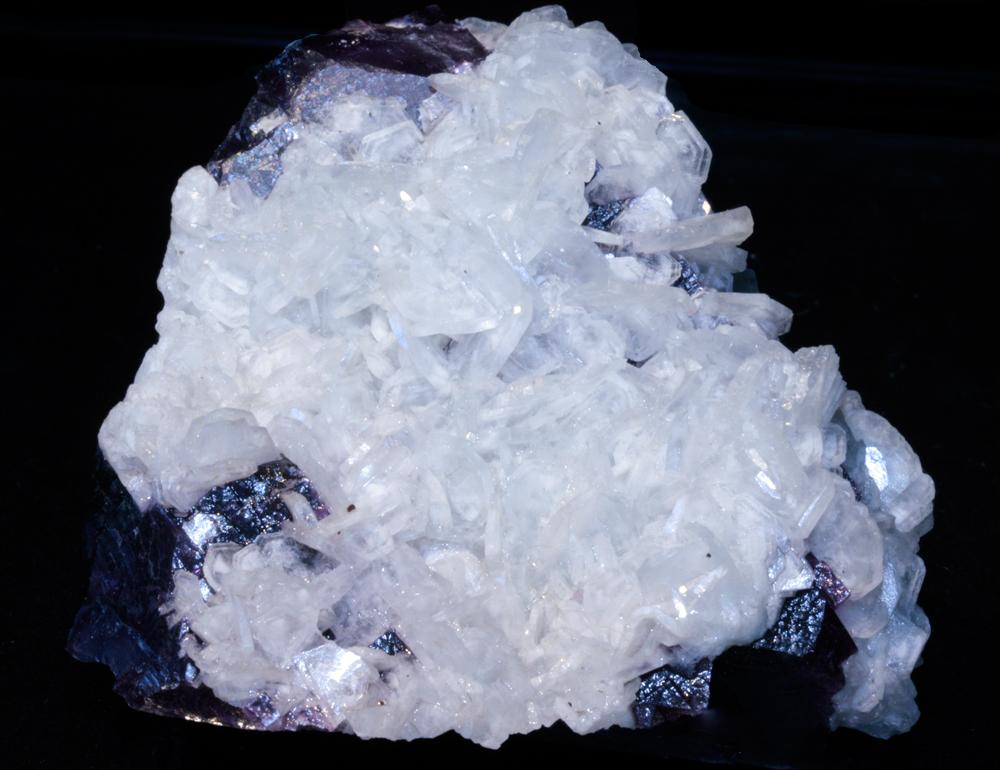 Baryte On Fluorite