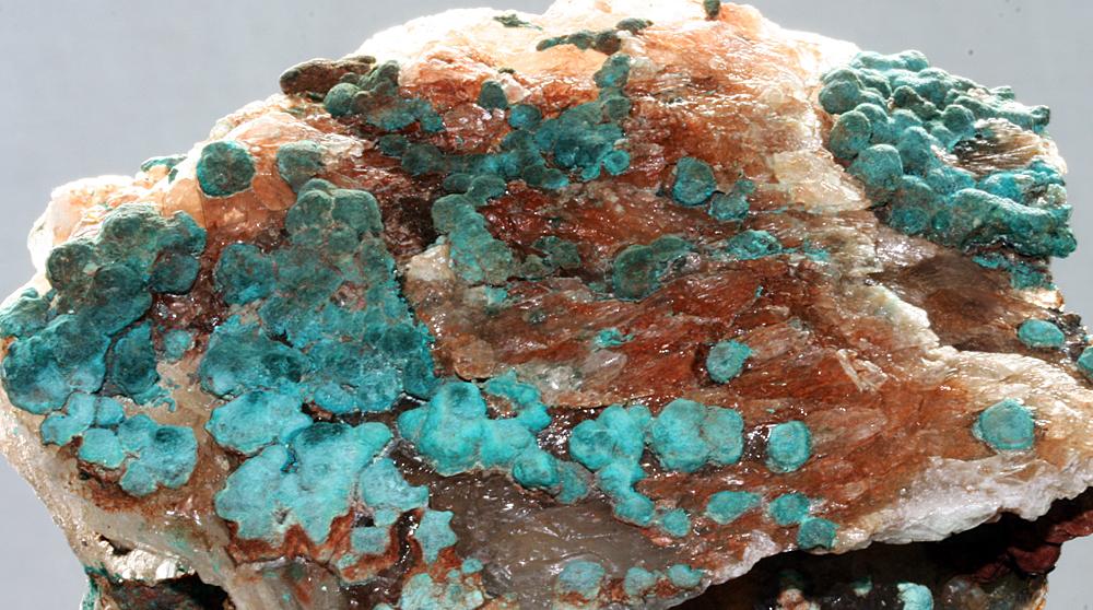 Malachite On Gypsum