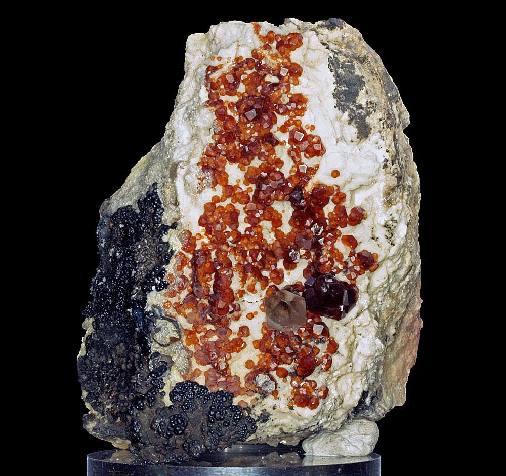 Spessartine Smoky Quartz & Hyalite