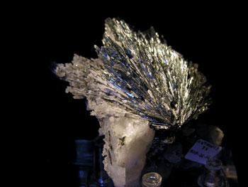 Stibnite In Quartz