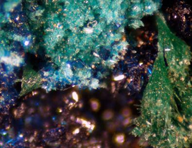 Clinoclase Malachite & Parnauite