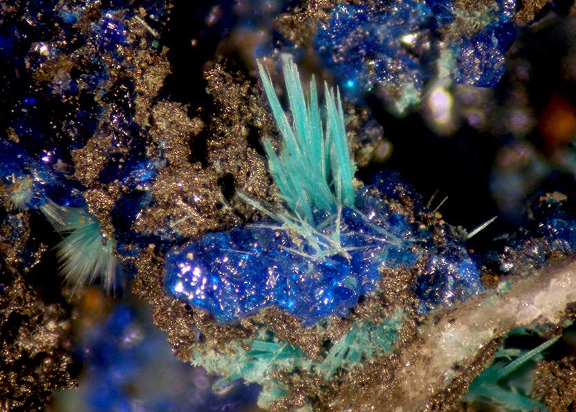Cyanotrichite Malachite & Azurite