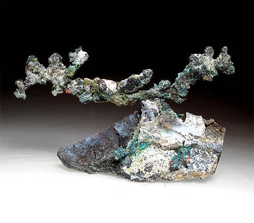 Native Copper On Serpentine