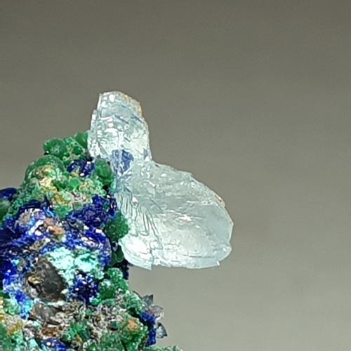 Azurite Malachite Adamite Conichalcite & Aragonite On Copper