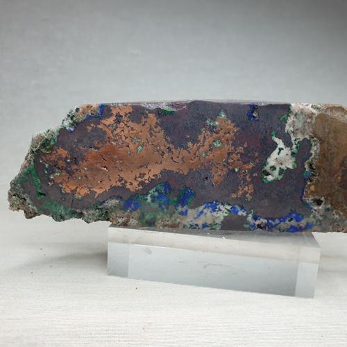 Native Copper Cuprite Azurite Adamite & Calcite