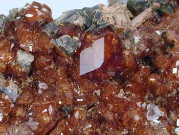 Hessonite Clinochlore & Apatite