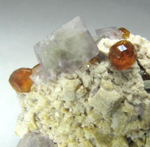 Fluorite & Spessartine
