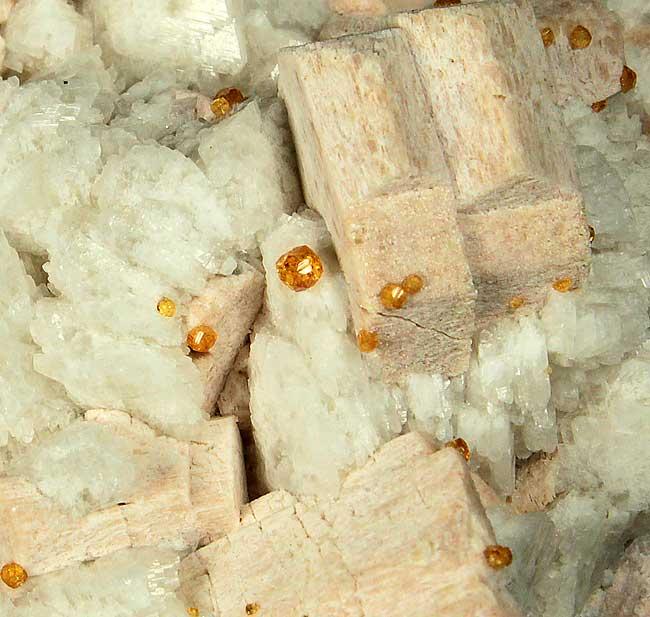 Spessartine Smoky Quartz Microcline & Albite