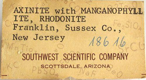 Axinite With Biotite Var Manganophyllite & Rhodonite