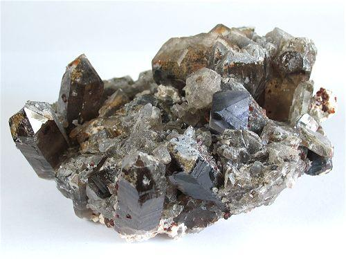 Fluorite With Quartz & Garnet Var Spessartine
