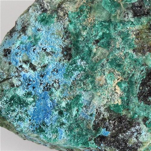 Cyanotrichite With Brochantite