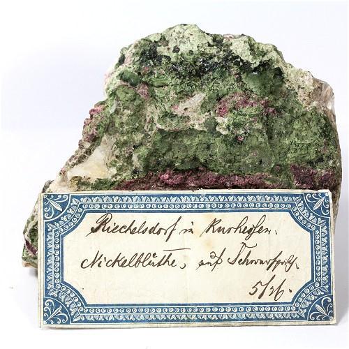 Annabergite With Erythrite & Baryte