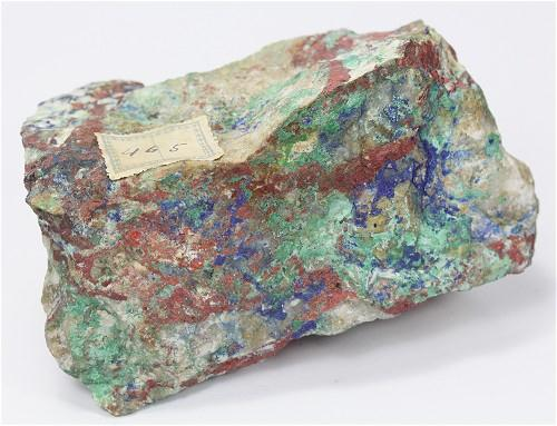 Cinnabar With Mercury Azurite & Malachite
