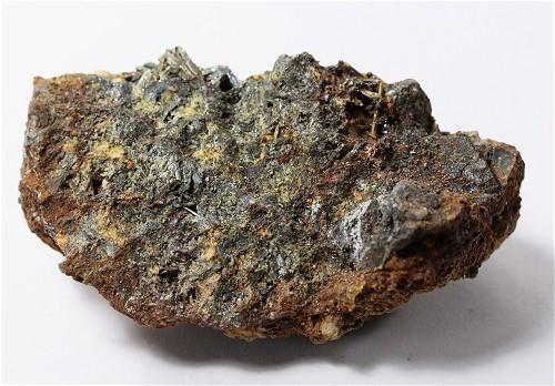 Stibnite With Antimony Ochre & Cinnabar