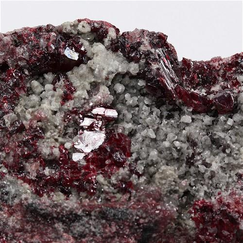 Cinnabar With Calcite