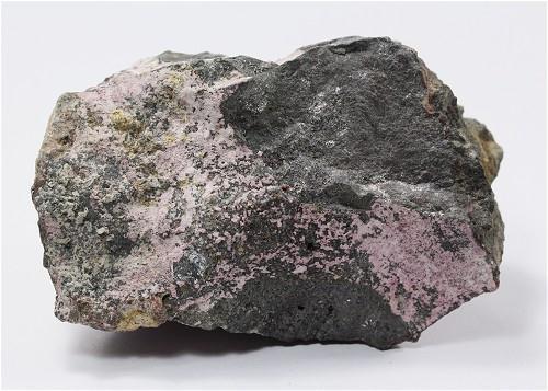 Native Bismuth With Erythrite