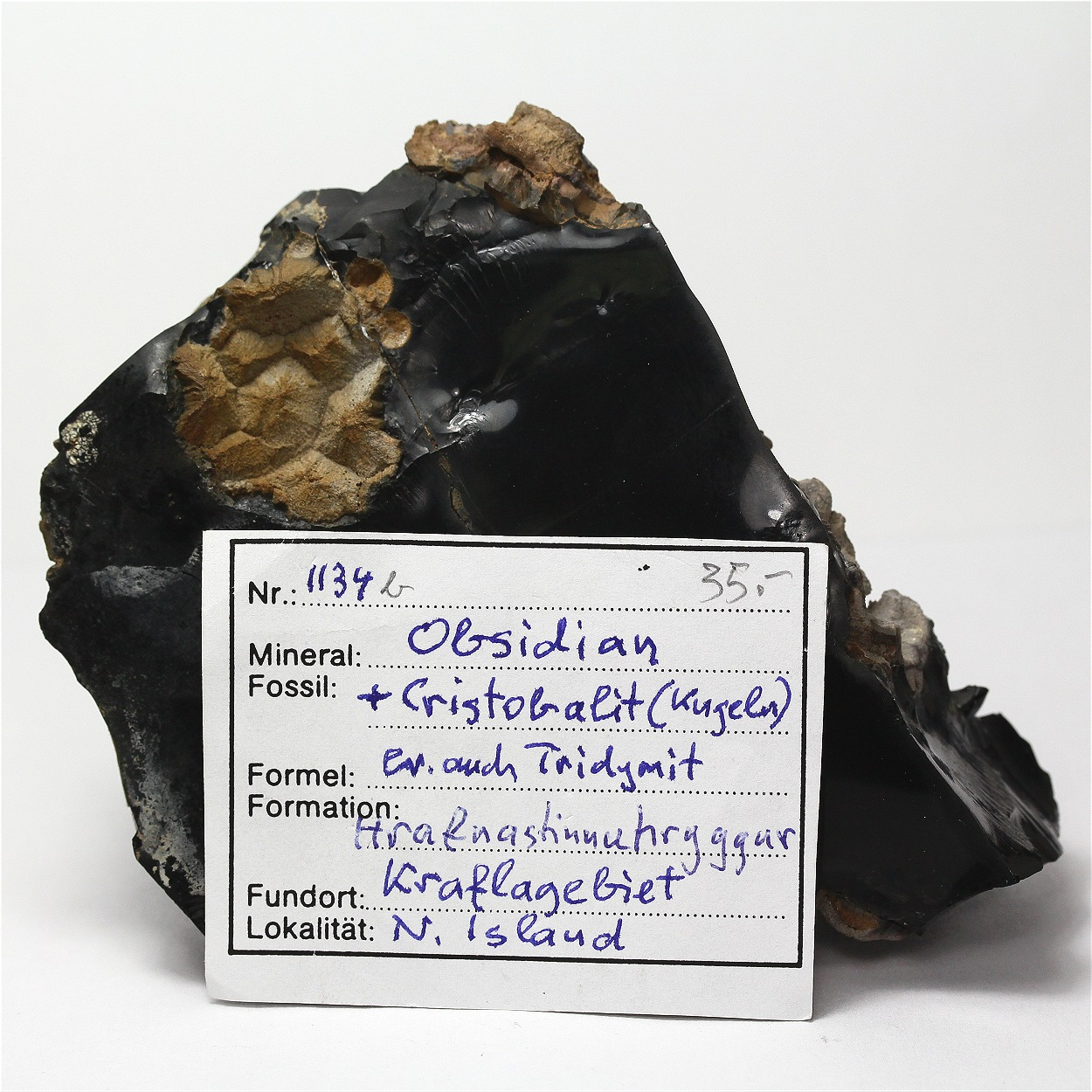 Obsidian With Cristobalite