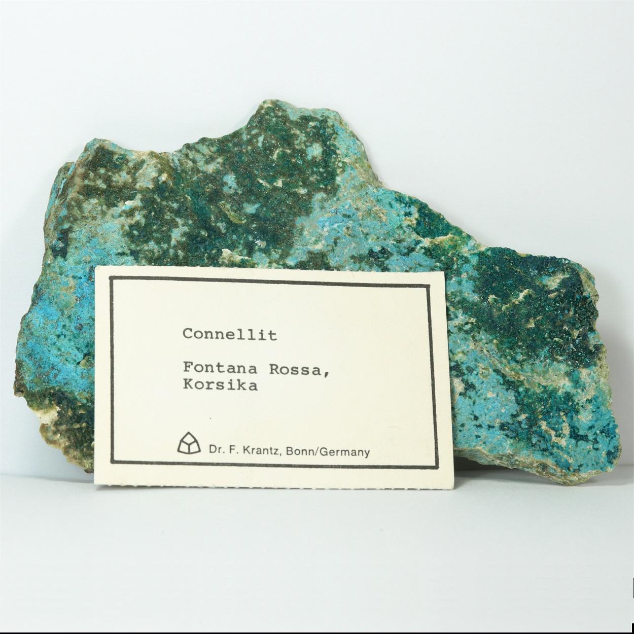 Connellite With Brochantite & Chrysocolla