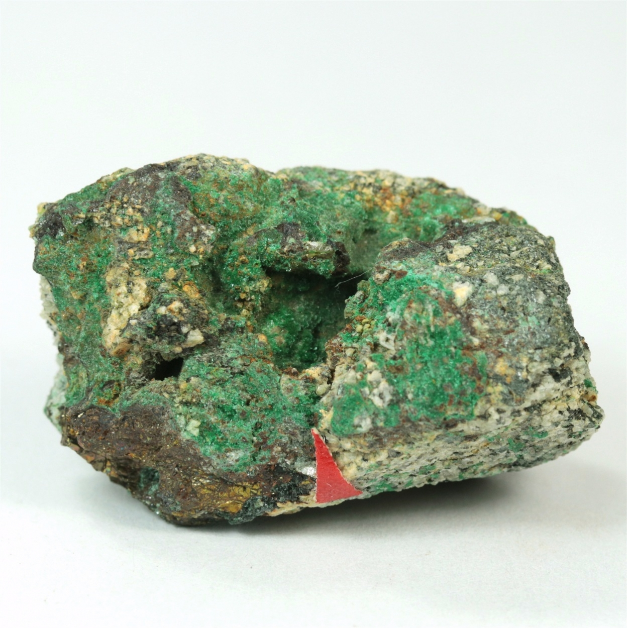 Gold With Malachite & Chalcopyrite