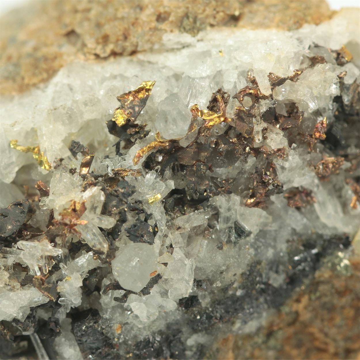 Gold With Quartz & Sphalerite