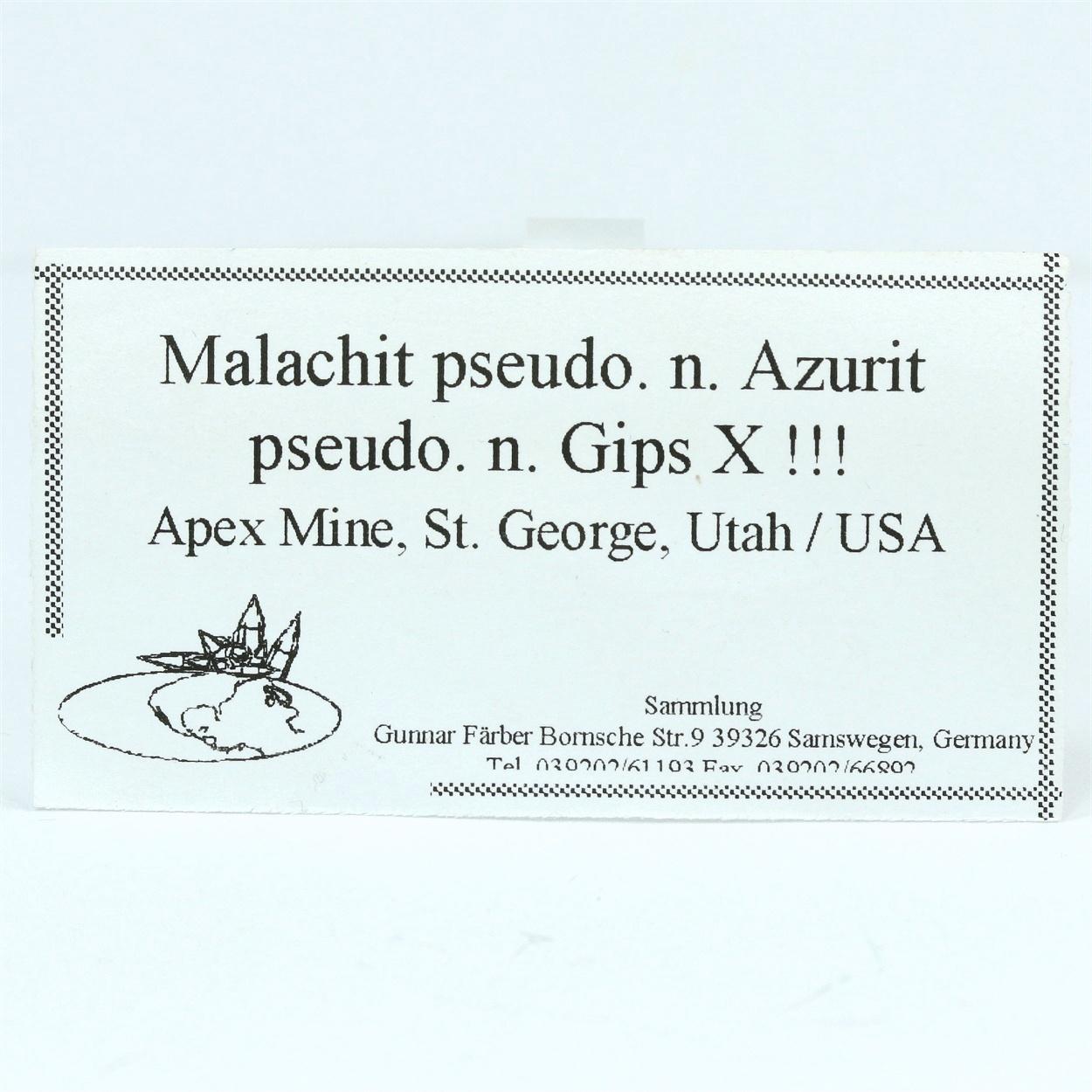 Malachite & Azurite Psm Gypsum