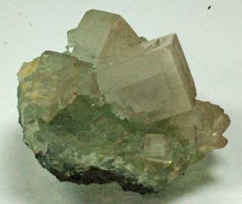 Fluorapophyllite On Prehnite