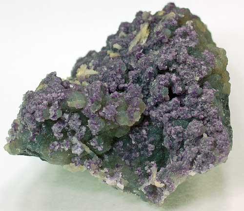 Fluorite on Chalcedony