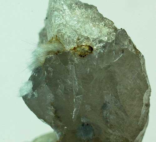 Holmquistite On Quartz