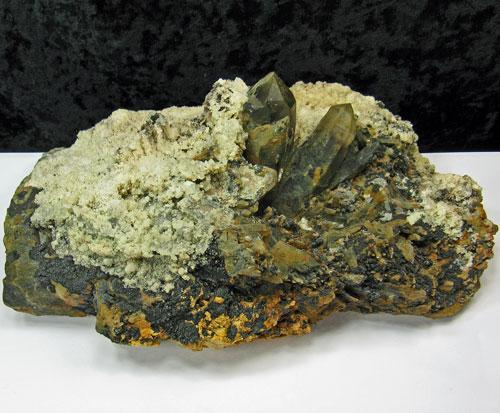 Opal Var Hyalite On Smoky Quartz