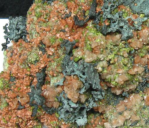 Tenorite With Epidote Microcline & Native Copper