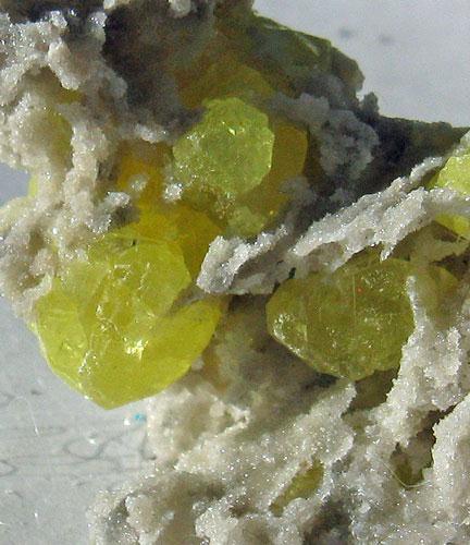 Aragonite With Native Sulphur