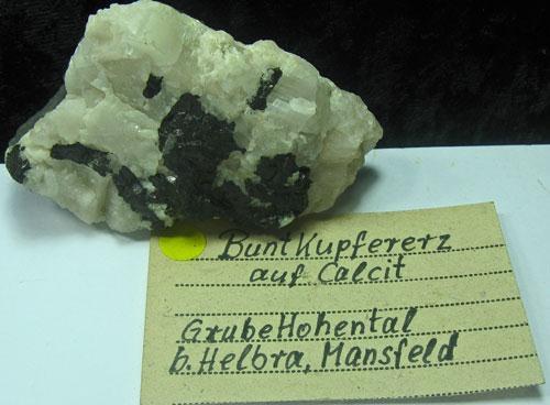 Bornite On Calcite