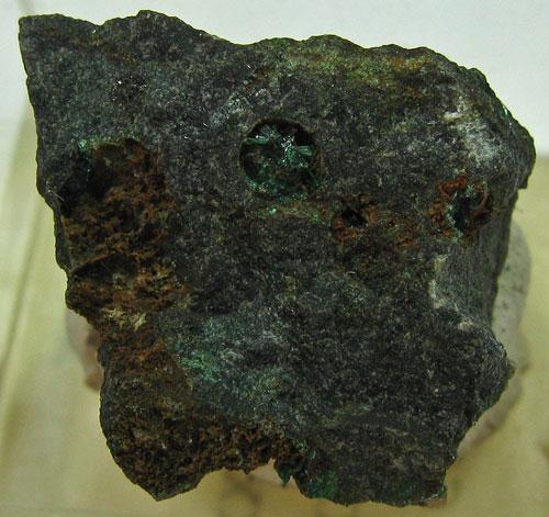 Baryte Malachite Brochantite & Libethenite
